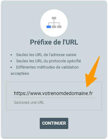 Propriété Préfixe URL