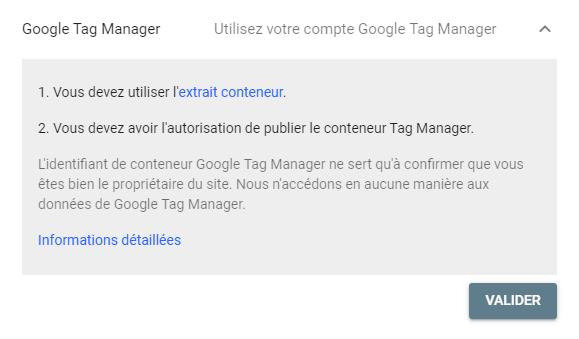 Validation Google Tag Manager